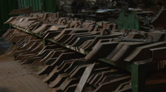 Warehouse cutters at a metallurgical plant 2 - stock footage