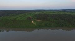 Lesser Polish Gorge of the Vistula //aerial footage// Stock Footage