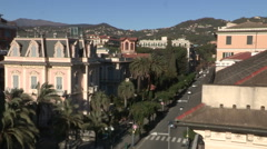 A residential district in Chiavari Stock Footage