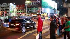 Bukit Bintang intersection in Kuala Lumpur Stock Footage