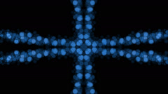 Abstract cross pattern background of blue lights in flowing motion (FULL HD) Stock Footage