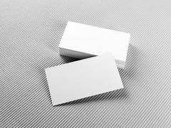 Stack of business cards - stock photo