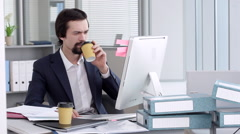 A Young Lawyer at the Workplace - stock footage