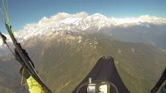 Stock Video Footage of pov Paragliding in the sky Annapurna Pokhara, Nepal, Himalayas