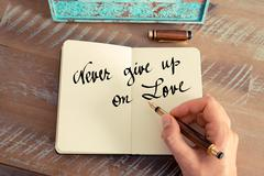 Never Give Up On Love - stock photo