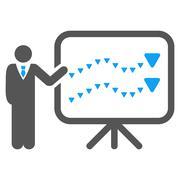 Trends Presentation Flat Vector Symbol Piirros