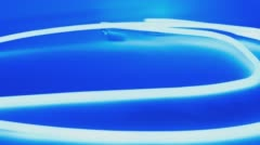 Abstract neon glow blue light Stock Footage