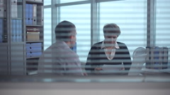 The Job Search And Interview Stock Footage