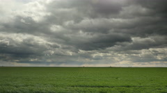 Farm, Farmland, Agriculture, Clouds, Storm Stock Footage
