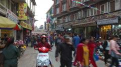Walking toward Durbar square in Kathmandu Stock Footage