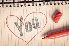 I love you message - stock photo