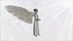 Angel in a pose of prayer Stock Footage