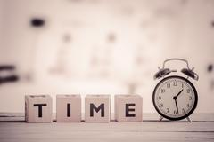 Cubes with the word time Stock Photos