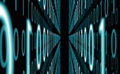 Digital binary data background, 4k Stock Footage