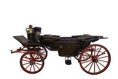 black historic carriage - stock photo