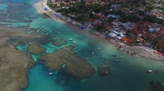 Top View of Porto de Galinhas, Pernambuco, Brazil Stock Footage