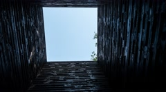 Timelapse of sky in mysterious tunnel. May symbolise way to heaven after death Arkistovideo