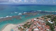 Aerial View of Porto de Galinhas, Pernambuco, Brazil Stock Footage