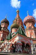 Saint Basil's Cathedral. Low angle view. Stock Photos