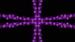 Abstract cross pattern background of purple lights in flowing motion (FULL HD) Stock Footage