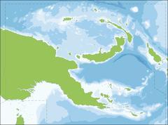 Papua New Guinea map - stock illustration