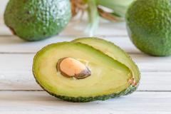 Avocado in a kitchen Stock Photos