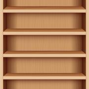 Book Case Wooden Seamless Endless - stock illustration