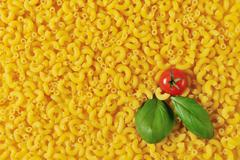 Full frame of dried macaroni - stock photo