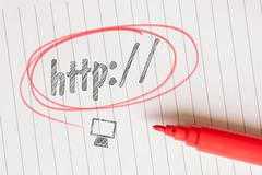 Http word on linear paper - stock photo