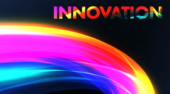 Title animation for web innovation - stock footage