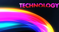 Title animation for technology - stock footage
