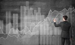 Dynamics of financial growth - stock photo