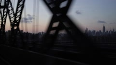 Driving Fast on New York City Bridge Stock Video - stock footage