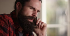 4k, A frustrated businessman talking on his phone. Stock Footage