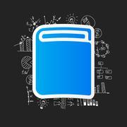 Drawing business formulas: book - stock illustration
