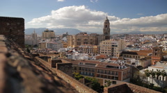 Malaga city view, streets, old district, Spain, Andalicia Stock Footage