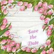 Wedding Invitation Cards. EPS 10 - stock illustration