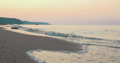 Sea waves washing the shore - stock footage