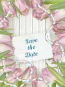 Wedding Invitation Cards. EPS 10 - stock illustration