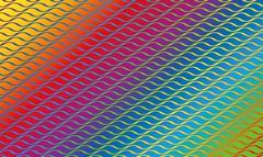 Wave Pattern Rainbow Colored Gradient Stock Illustration