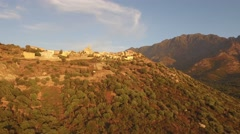 Stock Video Footage of Aerial Corsica Drone Calenzana city