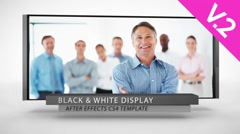 Black & White Display (V.2) - After Effects Template - stock after effects