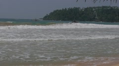 Fishing boats on sea, sri lanka, mirissa beach Stock Footage