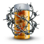 Prescription Drug Security - stock illustration