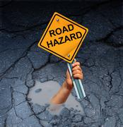 Road Hazard Concept Stock Illustration