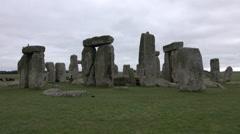 Prehistoric Stonehenge tourists Amesbury England 4K Stock Footage