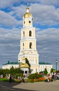 Belfry in Holy Trinity Seraphim-Diveevo monastery, Diveevo, Russia Stock Photos
