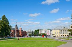Cathedral Square, Vladimir, Russia - stock photo