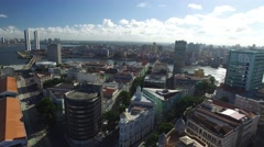 Aerial View of Marco Zero Square, Recife, Brazil Stock Footage