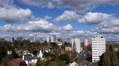 Zoom into Birmingham city centre skyline. Stock Footage